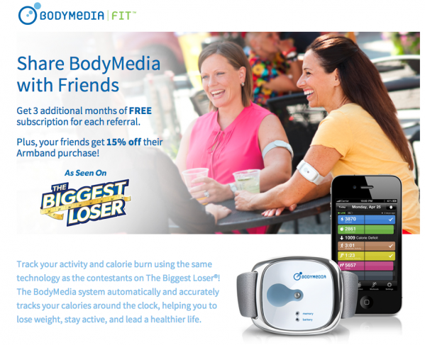 BodyMedia Refer-a-Friend