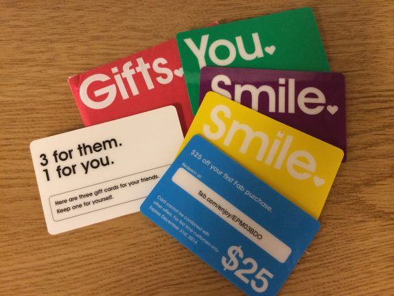 Fab referral cards