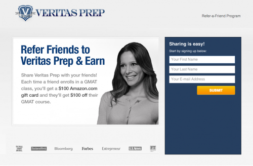 Veritas Prep refer-a-friend