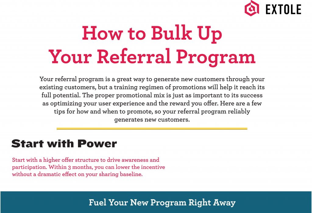 Infographic header - promoting referral programs