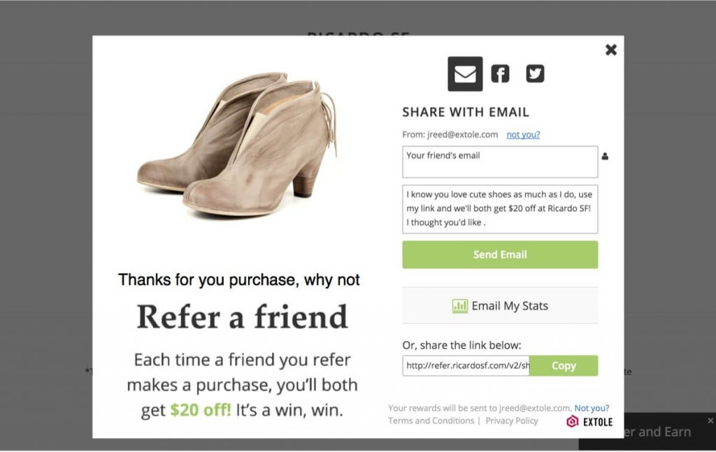 post-purchase referral