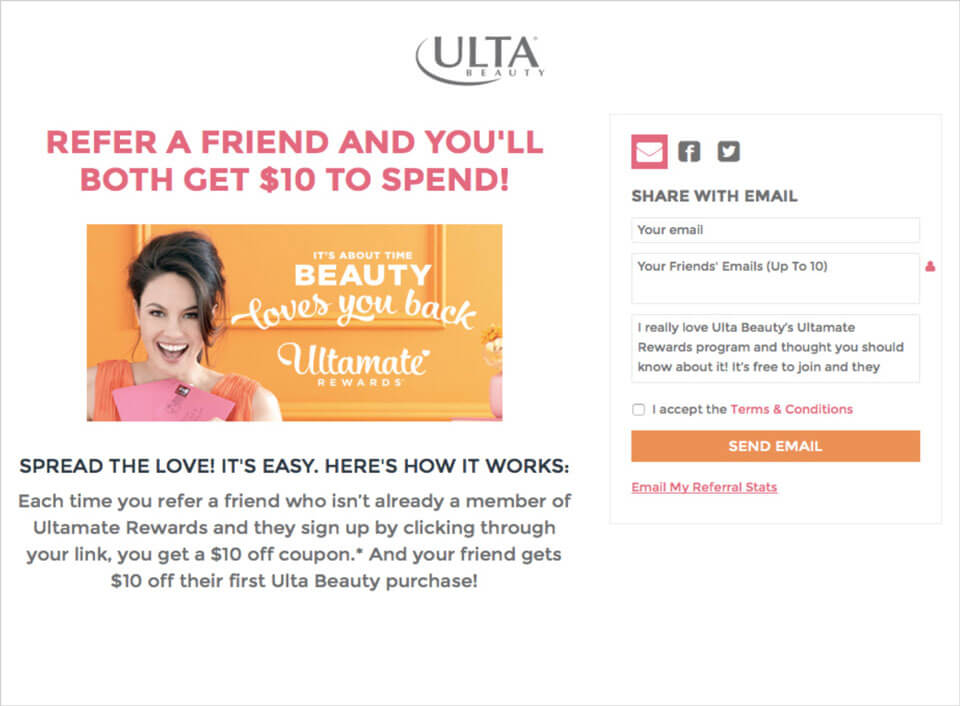 Ulta Beauty Referral Program