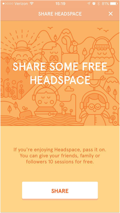 40 mobile examples headspace