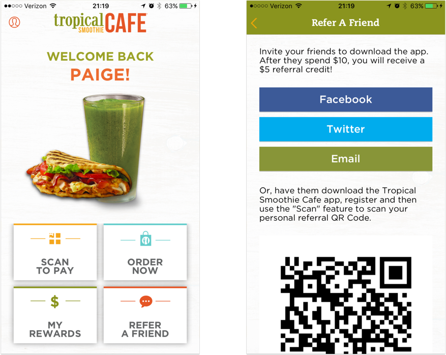 40 mobile examples tropical smoothie cafe