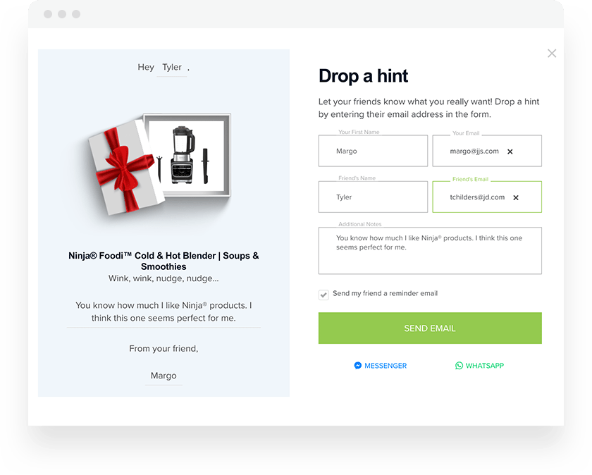 Extole Product Gift Referral Example