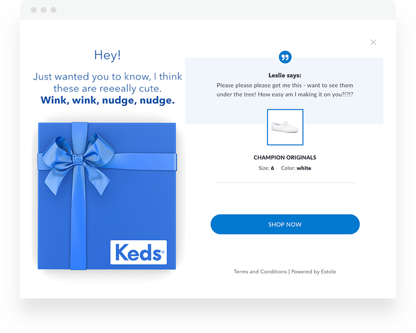 Extole Referral Campaigns Drop a Hint Example