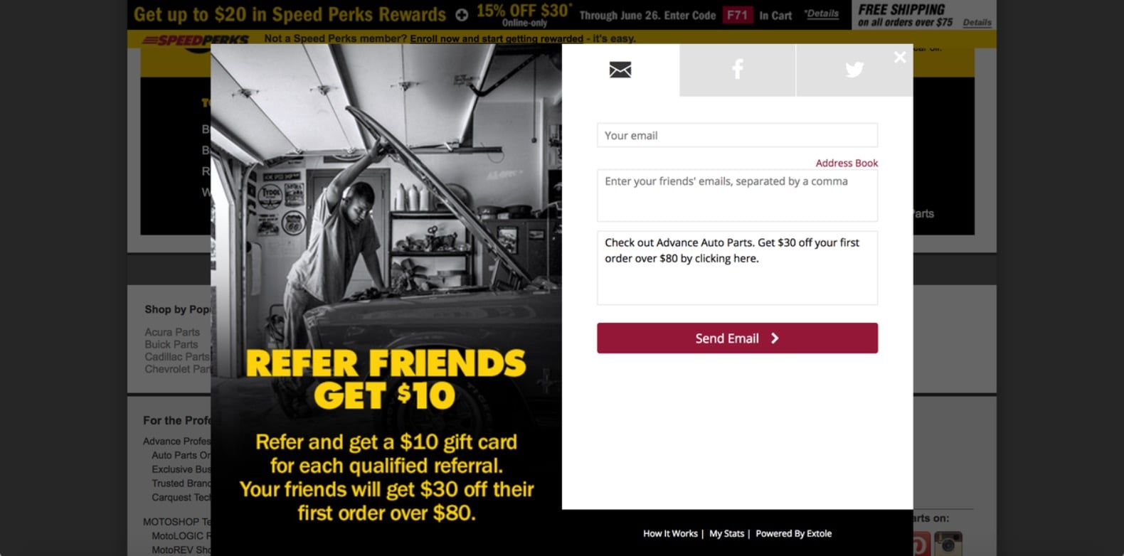 Ecommerce Referral Program Example
