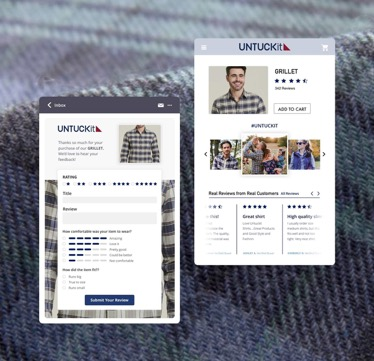 mobile app screenshot of mens clothing