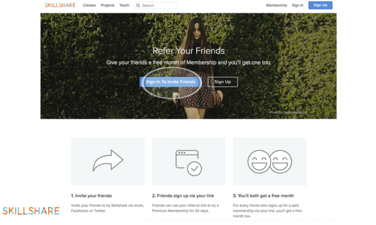 Images on Referral Landing Page