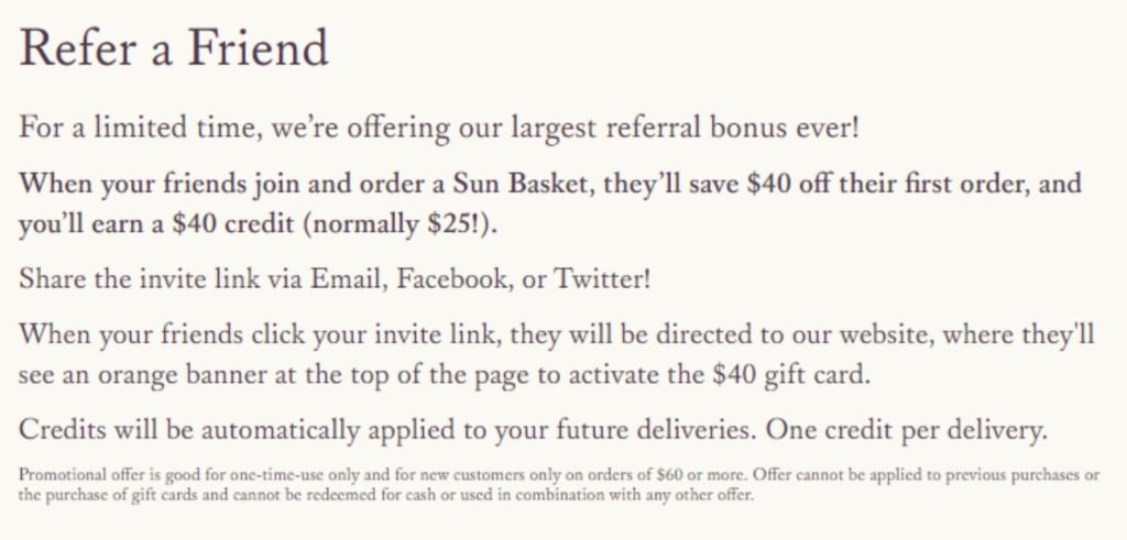 Referral Marketing Example