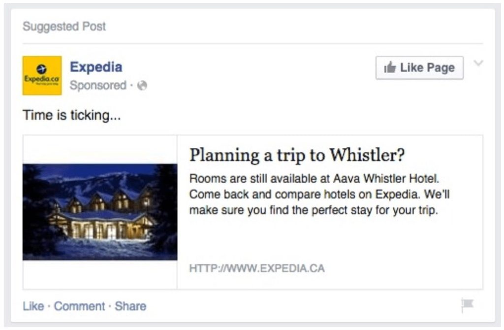 retargeted ad example