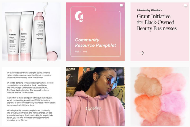 Glossier Referral Marketing Example