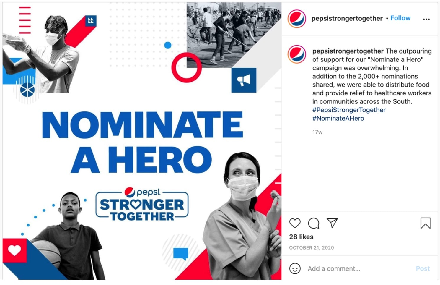 Nominate a Friend Campaign Example